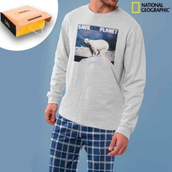 Pijama hombre NATIONAL GEOGRAPHIC Save our Planet algodón